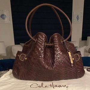✨SALE!✨Cole Haan✨Genevieve✨RARE! Woven Leather Bag